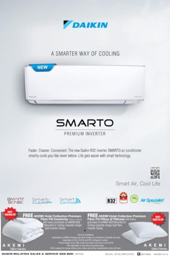 Daikin SMARTO Premium Inverter aircon banner